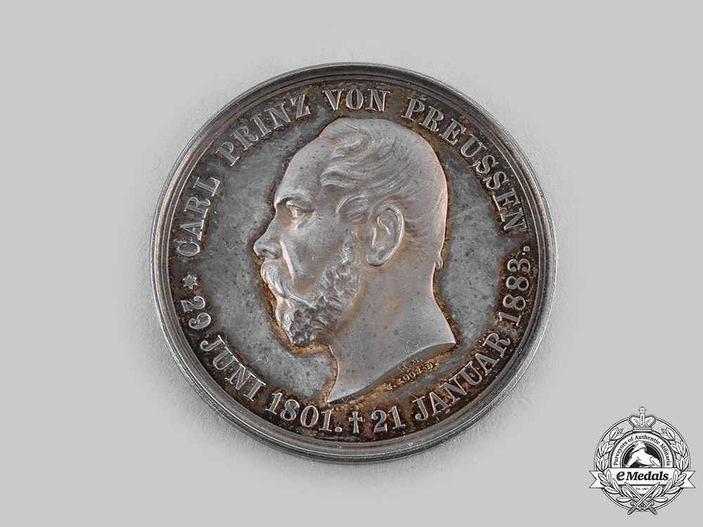 eMedals-Prussia, Kingdom. A Prince Charles of Prussia Medal , c.1885