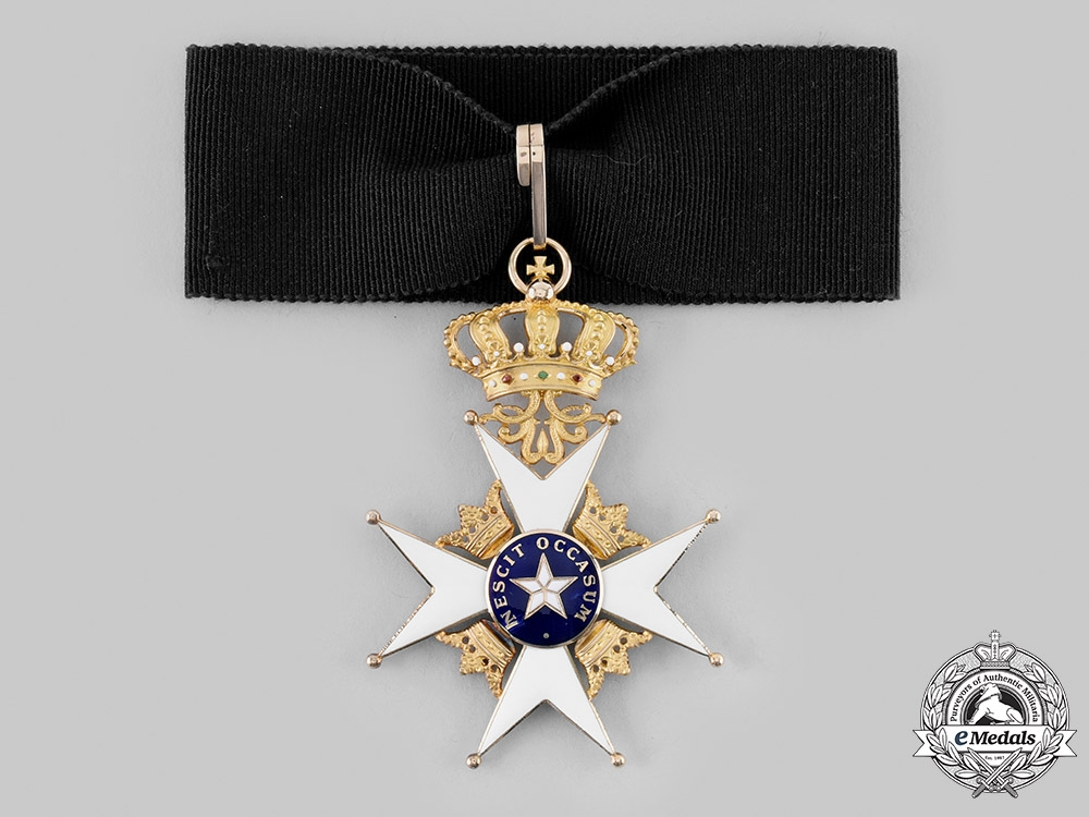 eMedals-Sweden, Kingdom. An Order of the North Star, II Commander in Gold, c. 1900