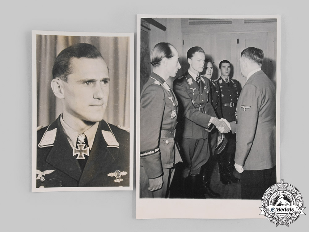 eMedals-Germany, Luftwaffe. A Pair of Signed Photographs of Günther Rall