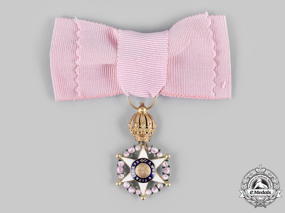 eMedals-Brazil, Independent Empire. An Order of the Rose in Gold, Dame's Star, c.1870