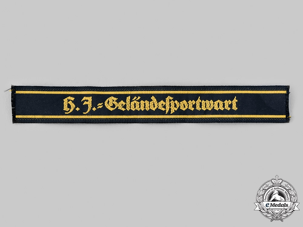 eMedals-Germany, HJ. A HJ Field Event Attendant's Cuff Title
