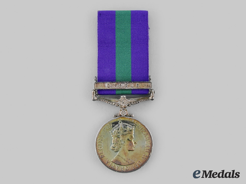 eMedals-United Kingdom. A General Service Medal 1918-1962, to Gunner J.A. Griffin, Royal Artillery