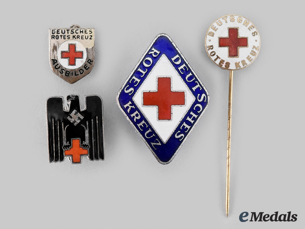 eMedals-Germany, DRK. A Lot of German Red Cross Pins