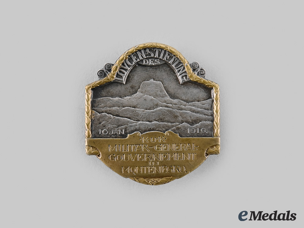 eMedals-Austria, Imperial. An Austrian Montenergo General Badge