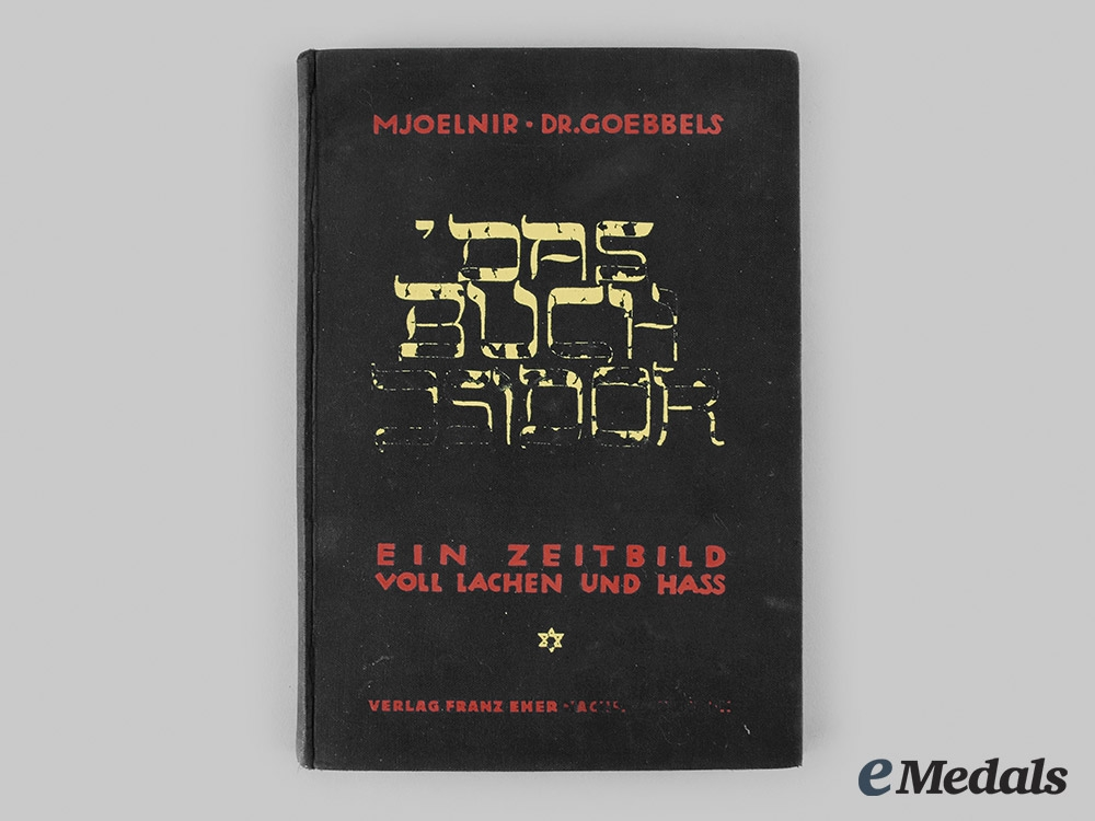 """eMedals-Germany, NSDAP. A 1929 Edition of """"Das Buch Isidor"""", from the Library of SS-Obergruppenführer Arthur Seyss-Inquart"""
