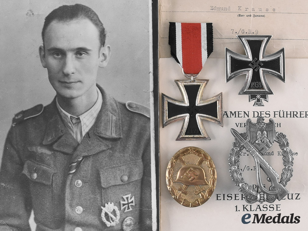 eMedals-Germany, Heer. The Awards and Documents of Gefreiter Edmund Krause, Grenadier-Regiment 9