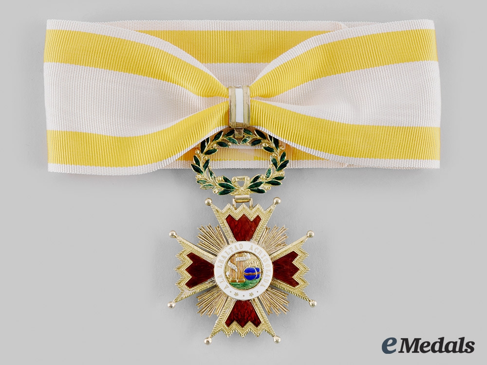 eMedals-Spain, Kingdom. An Order of Isabel the Catholic in Gold, Commander c.1880