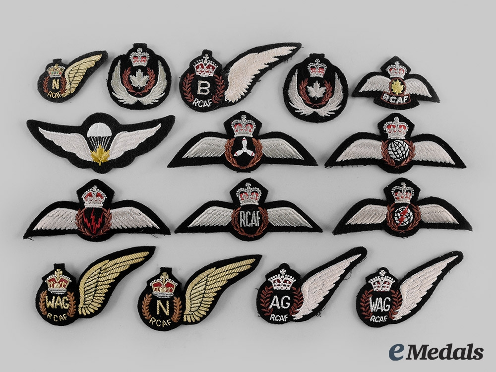 eMedals-Canada, Commonwealth. A Lot of Fifteen Royal Canadian Air Force (RCAF) Badges