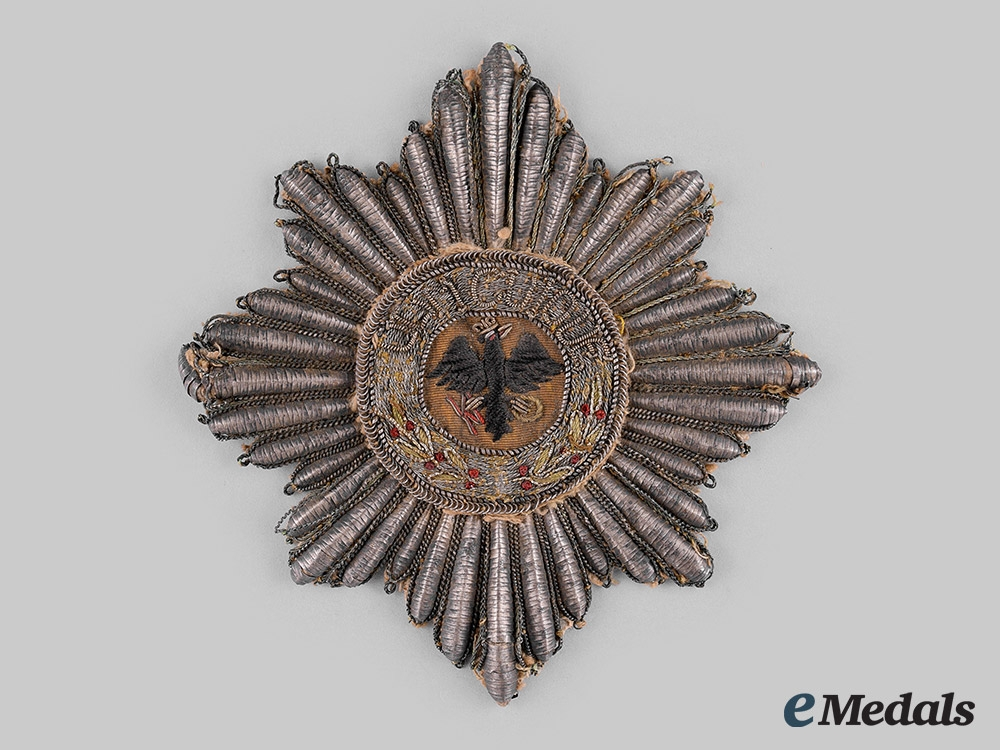 eMedals-Prussia, State. A High Order of the Black Eagle, Schabrackenstern Grand Cross Star