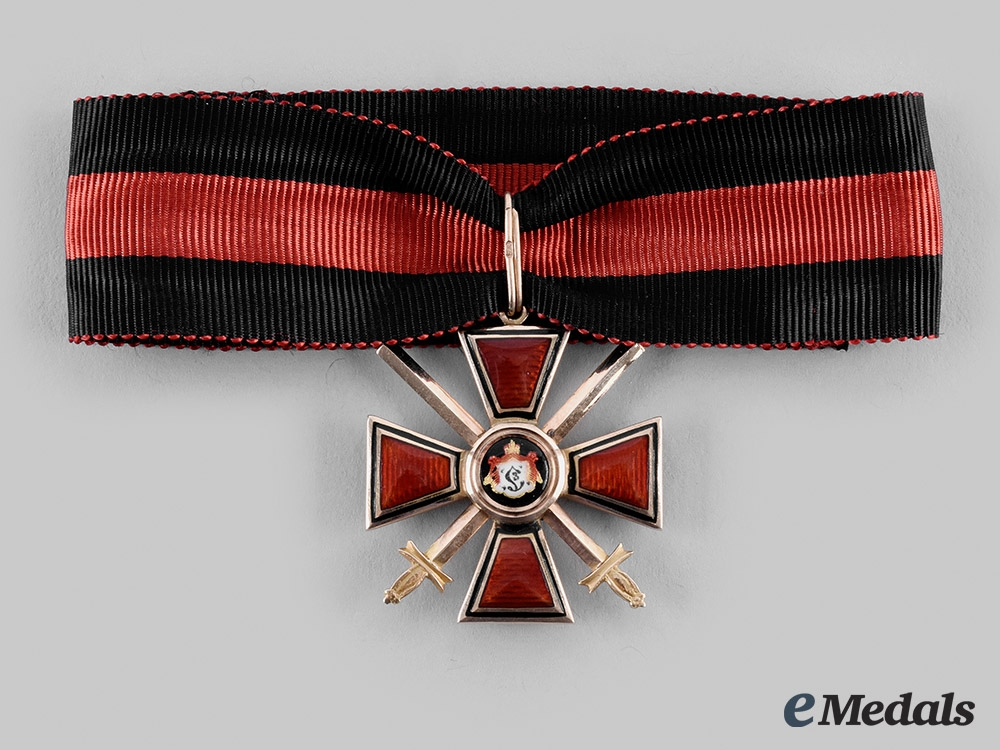 eMedals-Russia, Imperial. An Order of Saint Vladimir in Gold, IV Class, by Eduard, c. 1914