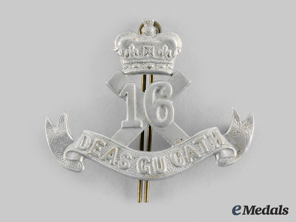 "eMedals-Canada, CEF. A 16th Infantry Battalion ""Canadian Scottish"" Cap Badge"