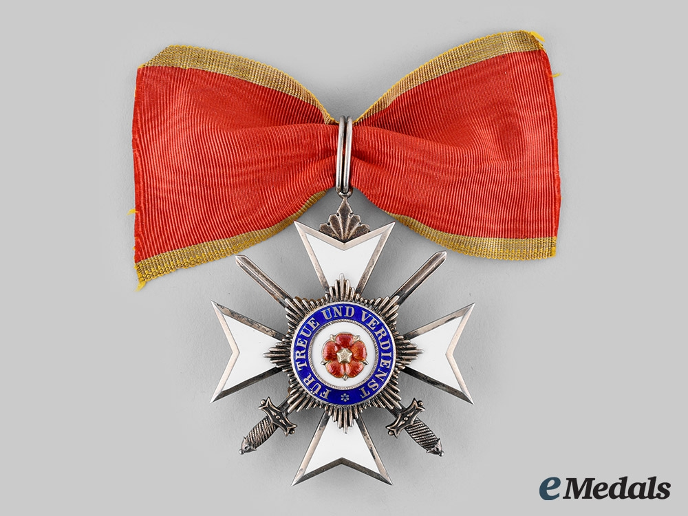 eMedals-Lippe, Principality. A Princely House Order, II Class Cross with Swords