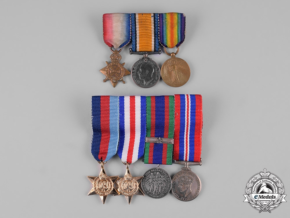 eMedals-United Kingdom, Canada. A Lot of Seven First and Second War Miniature Awards