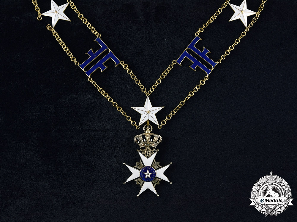 eMedals-Sweden, Kingdom. An Order of the North Star, Commander Grand Cross Collar Chain