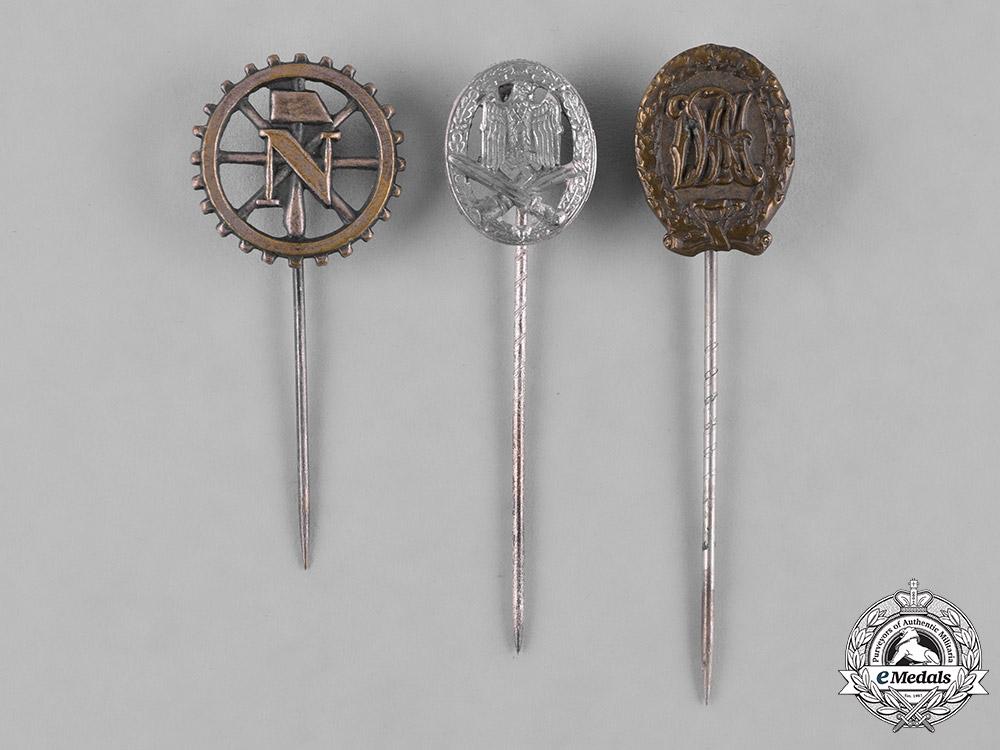 eMedals-Germany, Third Reich. A Lot of Three Second War Period Stickpins