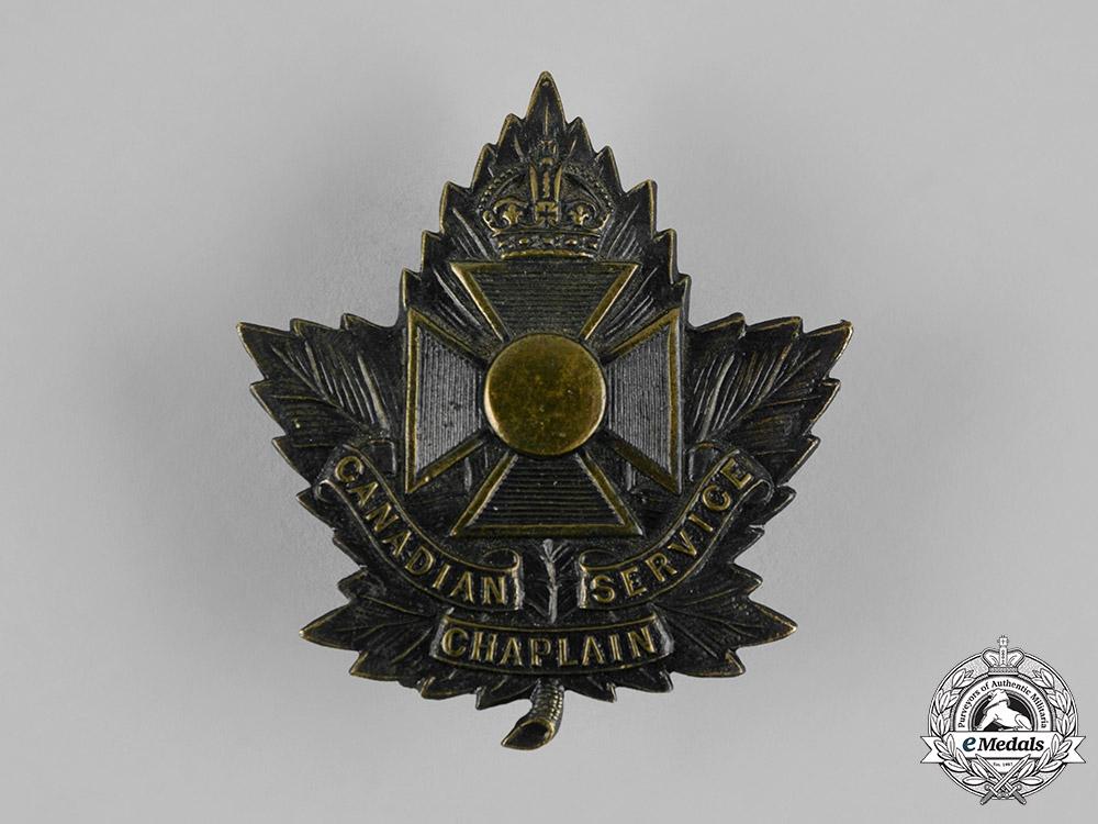 eMedals-Canada. A Chaplain Service General Service Cap Badge, by Gaunt