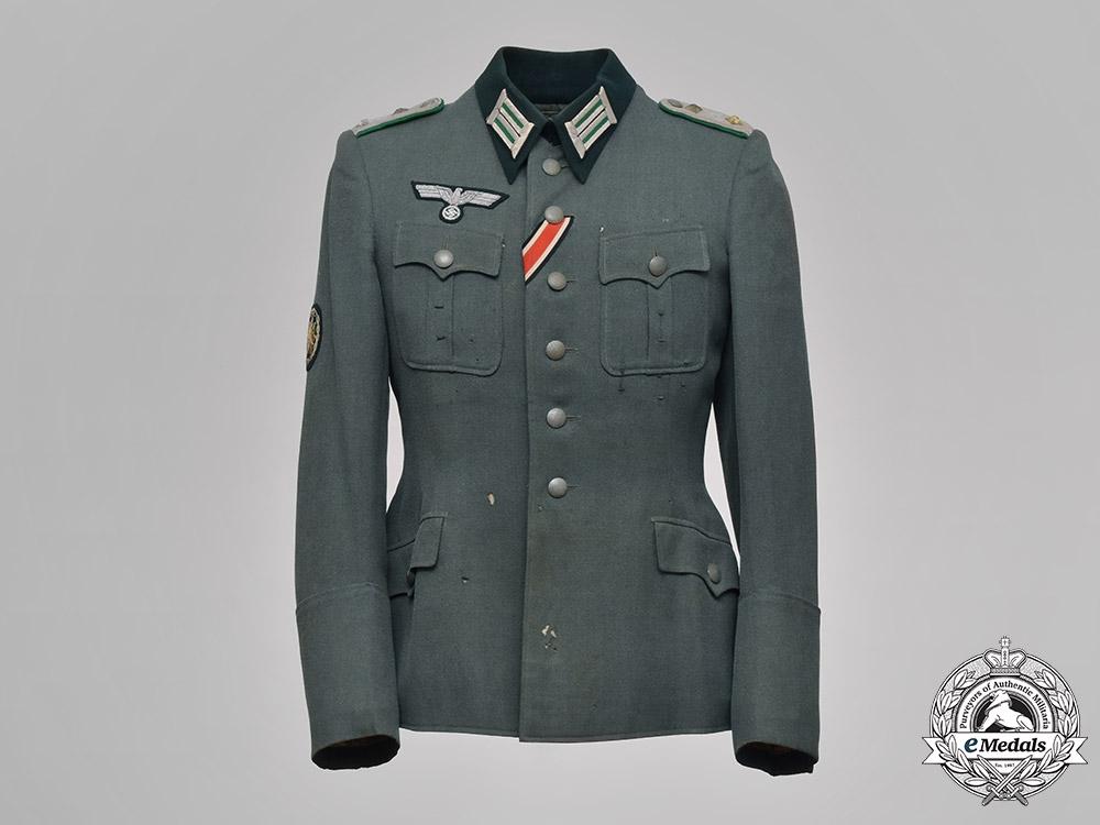 eMedals-Germany, Heer. A Gebirgsjäger Officer's Service Tunic, to Dr. Alfred Horstkotte, by Armeemarinehaus, c.1943
