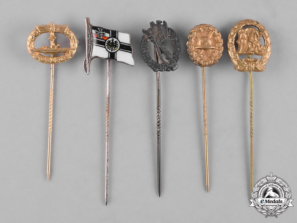 eMedals-Germany, Third Reich. A Lot of Second War Period Miniature Stickpins