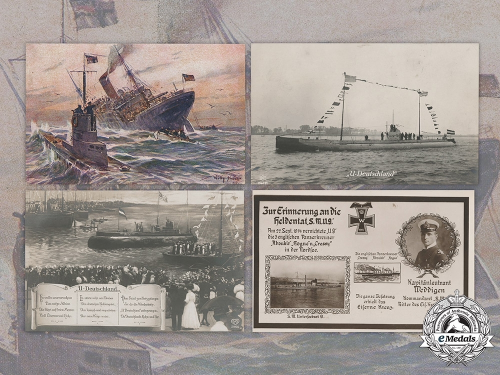eMedals-Germany, Imperial. A Lot of Imperial German Navy Postcards
