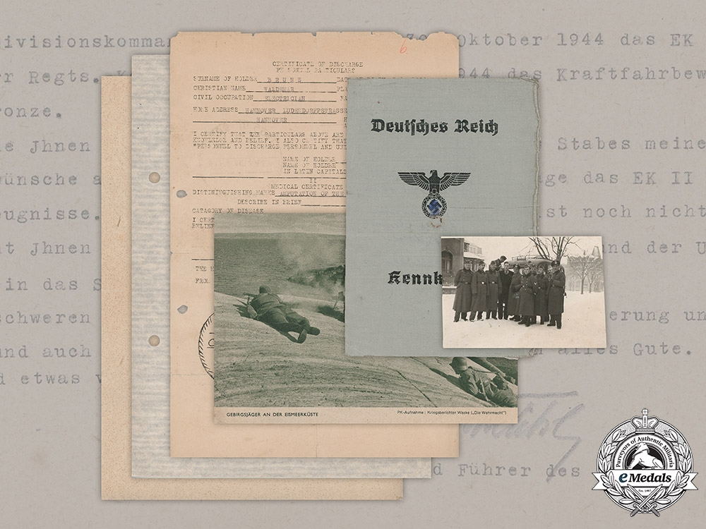 eMedals-Germany, Heer. A Document Group to Obergefreiter Bruns, 369th (Croatian) Infantry Division