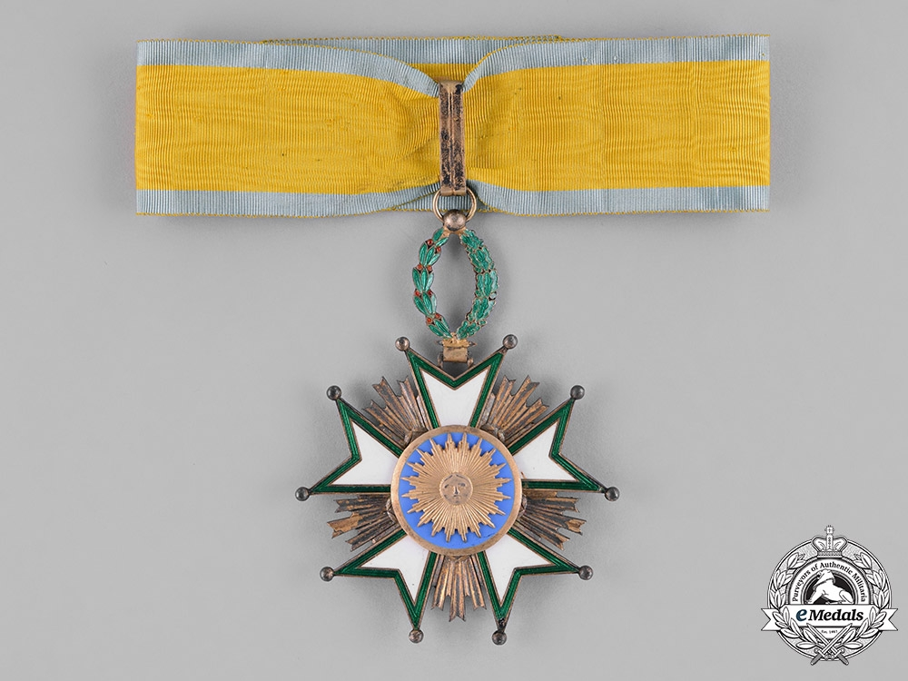 eMedals-Iran, Qajar Dynasty. An Order of the Crown, II Class Grand Officer, by Arthus Bertrand, c.1920