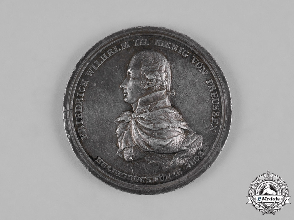 eMedals-Germany, Prussia. A Unification of Paderborn with the State of Prussia Medal 1802