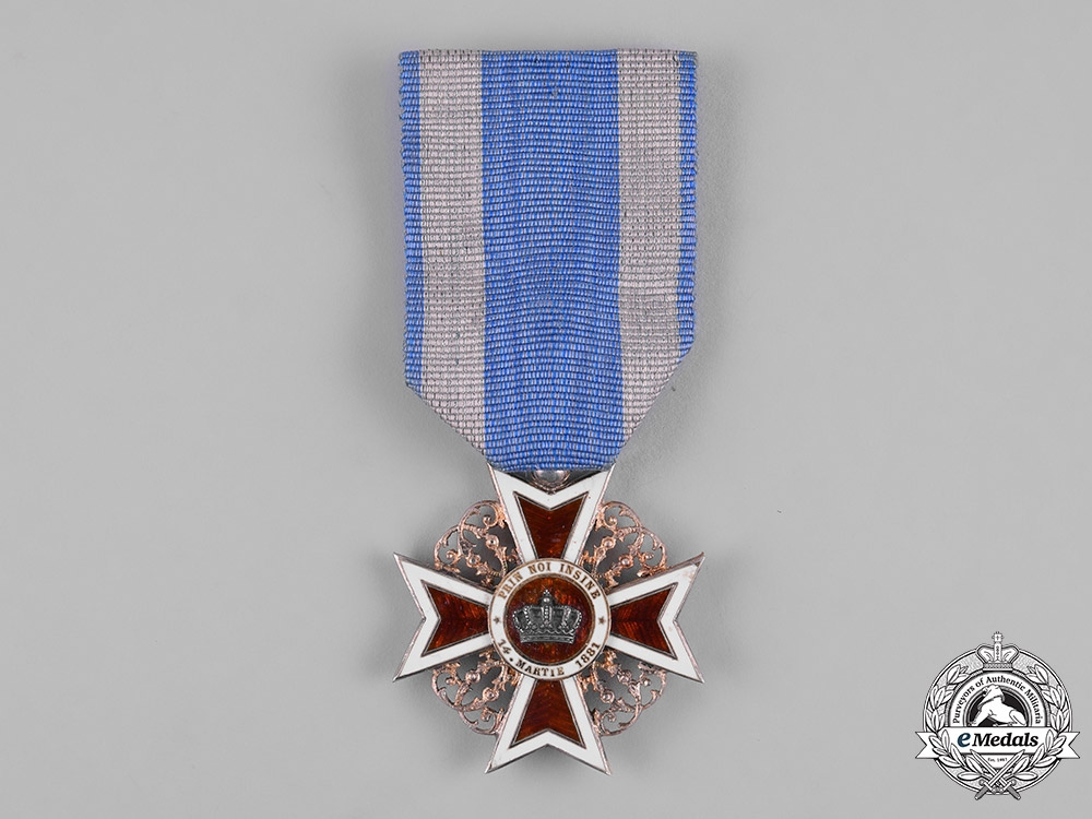 eMedals-Romania, Kingdom. An Order of the Crown of Romania, V Class Knight, Civil Division, c,1910