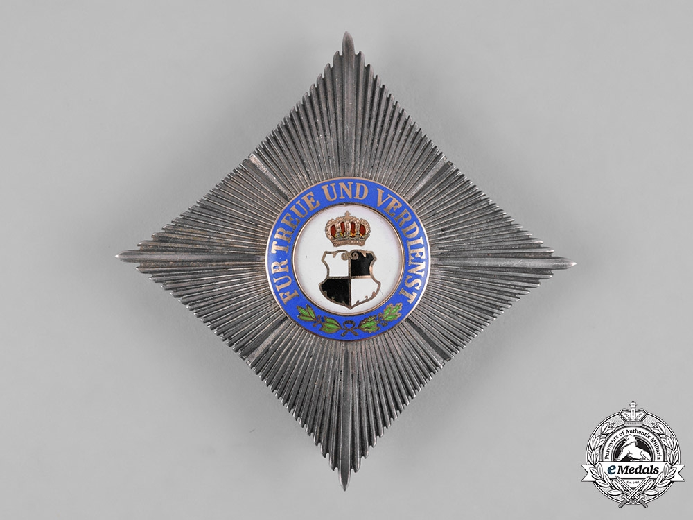 eMedals-Hohenzollern, State. A House Order of Hohenzollern, Commander's Star, c.1914