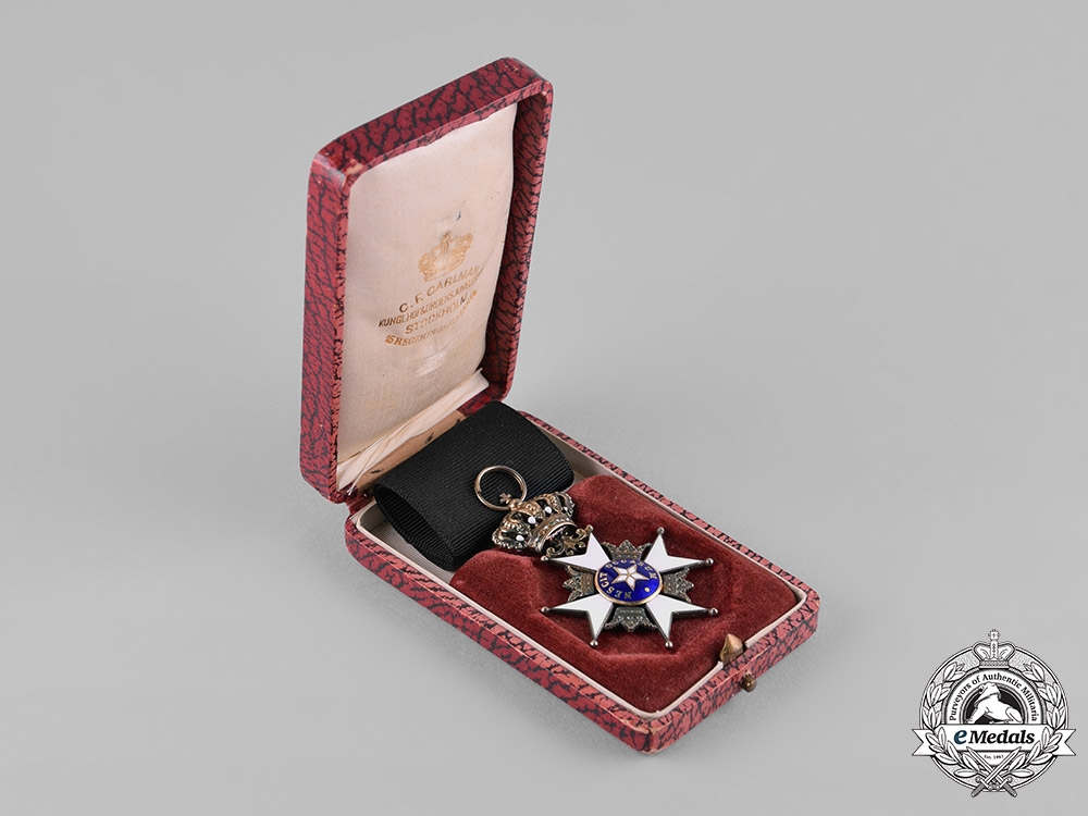 eMedals-Sweden, Kingdom. An Order of the North Star, Knight's Breast Badge, by C.F.Carlman