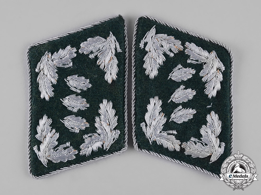 eMedals-Germany, Reich Forstdienst. A Set of Reich Forest Service State-Level Landforstmeister Collar Tabs