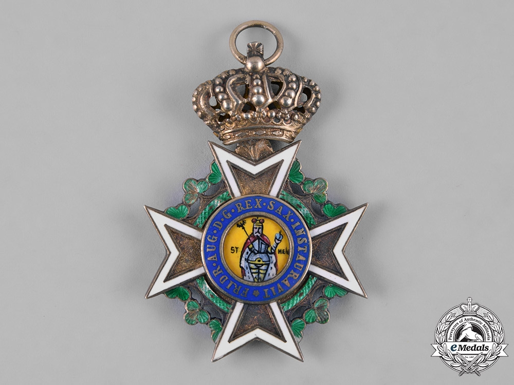 eMedals-Saxony, Kingdom. A Military Order of St. Henry, Knight, by G.A. Scharffenberg, c.1915