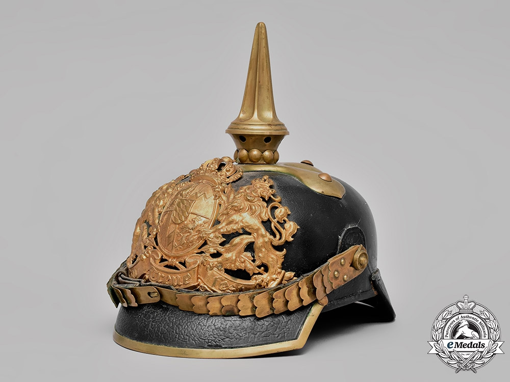 eMedals-Bavaria, Kingdom. An Infantry Officer's Pickelhaube