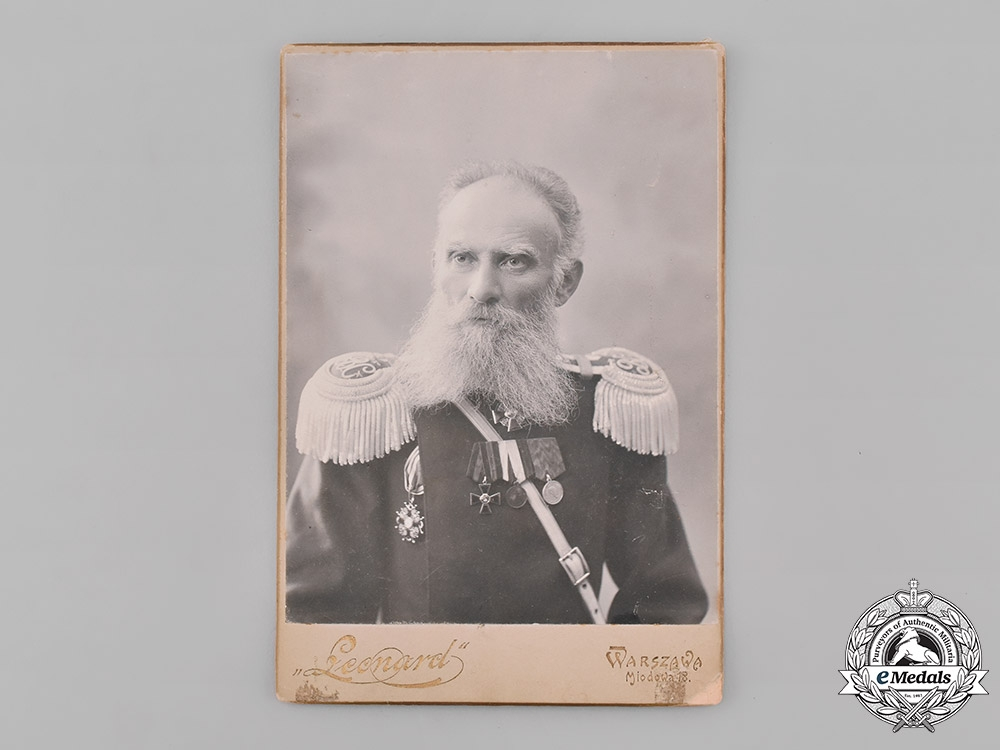 eMedals-Russia, Imperial. A Studio Photo of an Imperial Russian Army Officer
