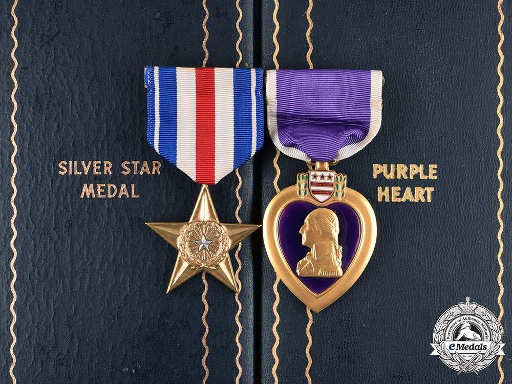 eMedals-United States. A Silver Star & Purple Heart to Pte Arthur T. Blaquiere, KIA in Luzon, Philippines, 1945