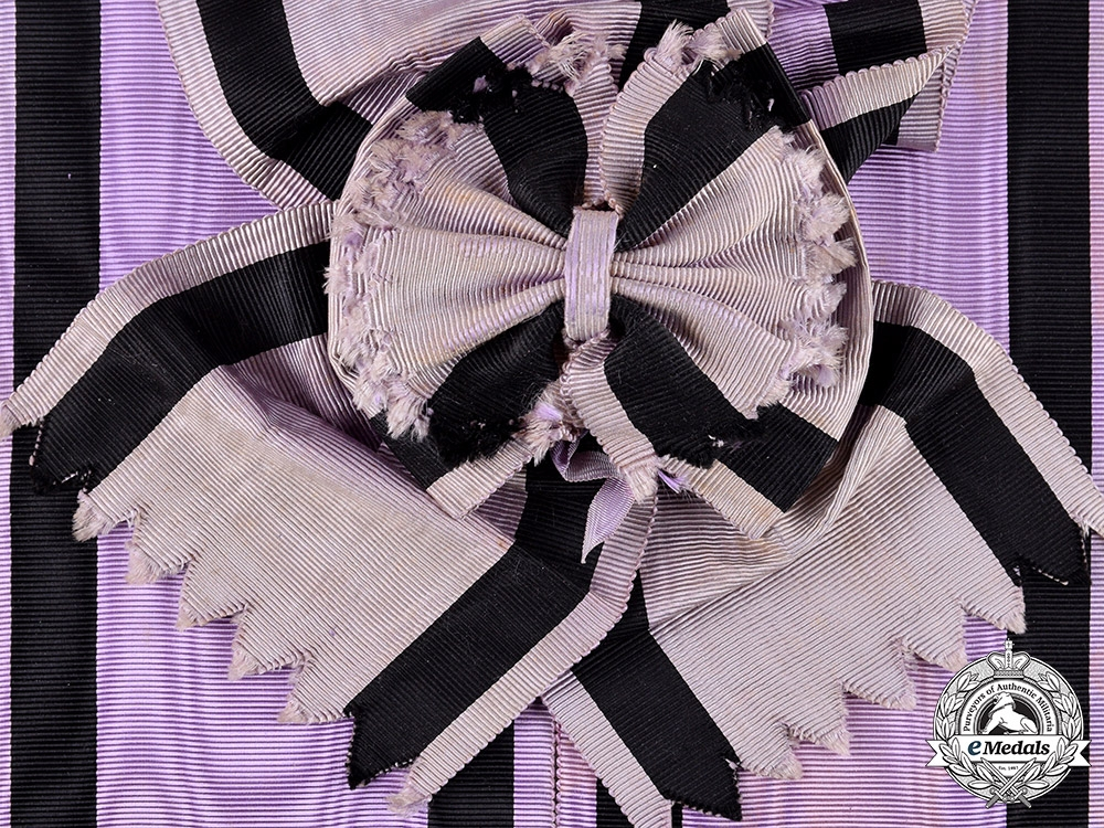 eMedals-Spain, Kingdom. An Order of Charity with Purple and Black Distinction, Grand Cross Sash