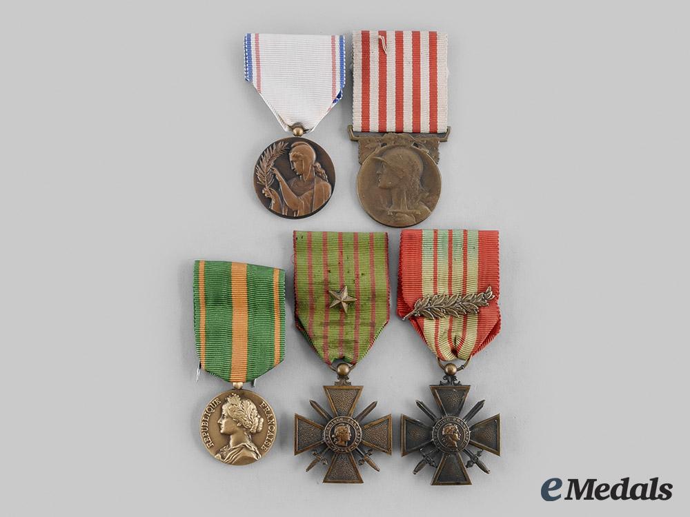 eMedals-France, III Republic. A Lot of Five Awards