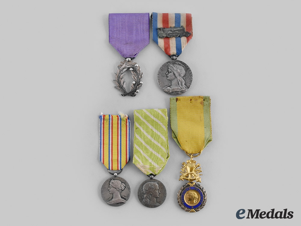 eMedals-France, III & IV Republic. A Lot of Five Awards