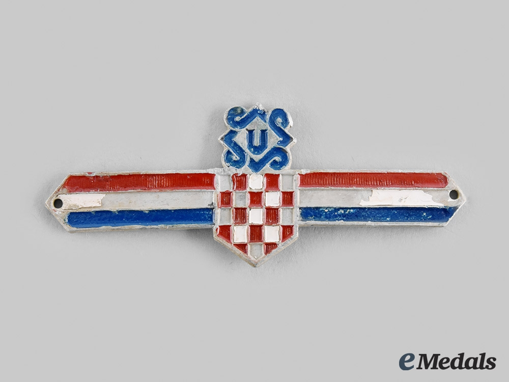 eMedals-Croatia, Independent State.  A Ustasha Leaders Insignia