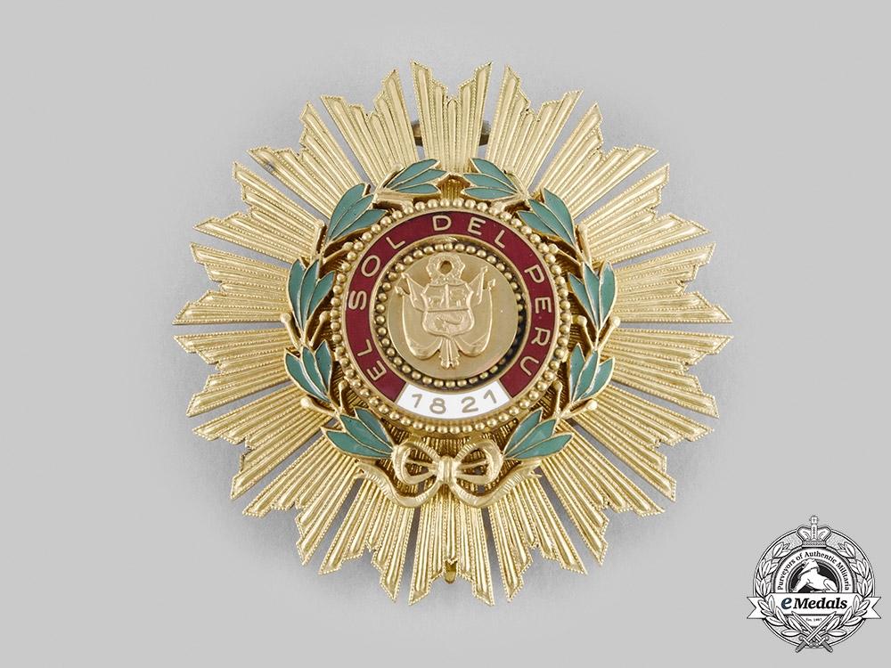 eMedals-Peru, Republic. An Order of the Sun of Peru, Grand Cross Star, c.1960