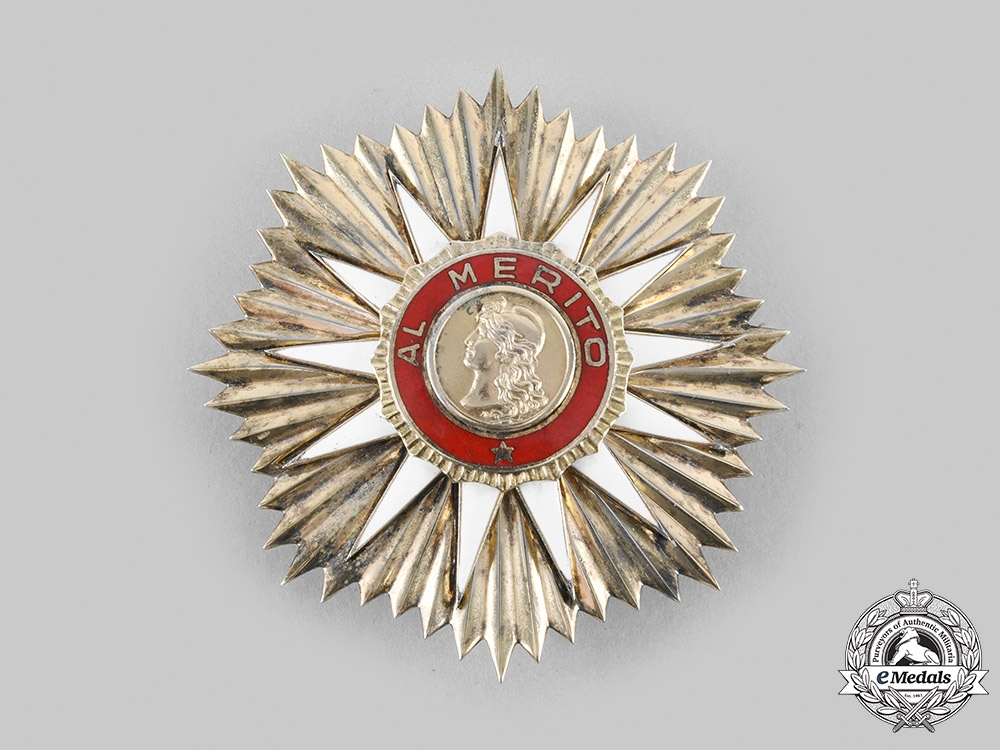 eMedals-Argentina, Republic. An Order of May for Merit, I Class Grand Cross Star, c.1960