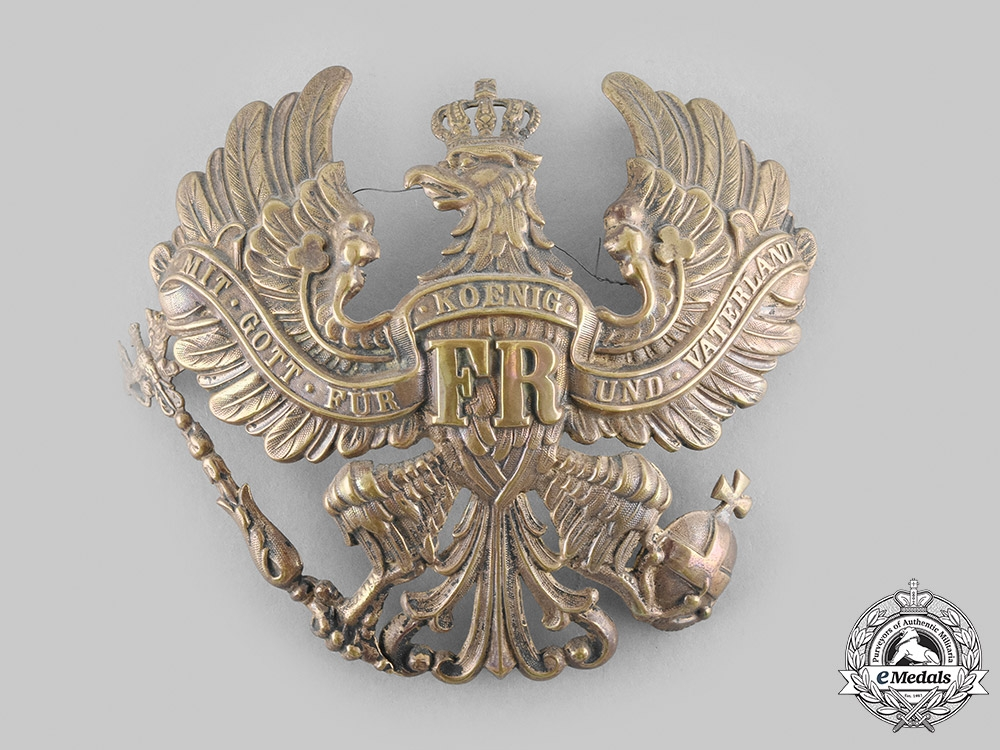 eMedals-Germany, Imperial. A Prussian Pickelhaube Insignia