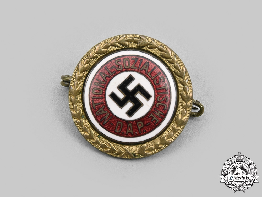 eMedals-Germany, NSDAP. A Golden Party Badge, Small Version, by Josef Fuess