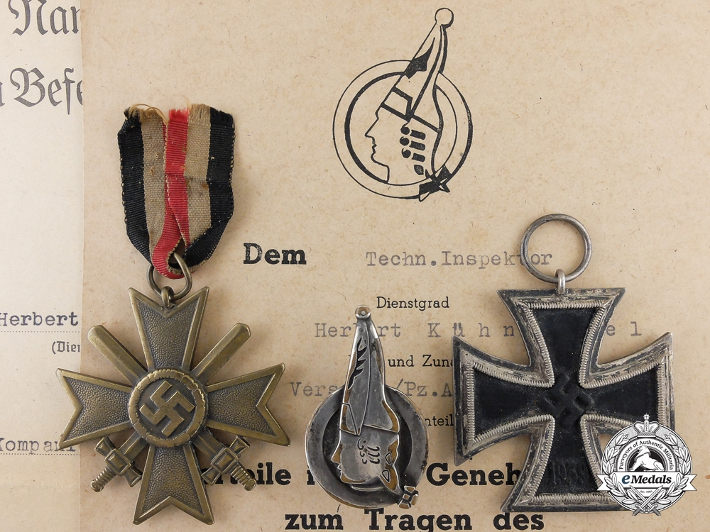 eMedals-A Group of Documents & Awards to the 26th Panzer Division