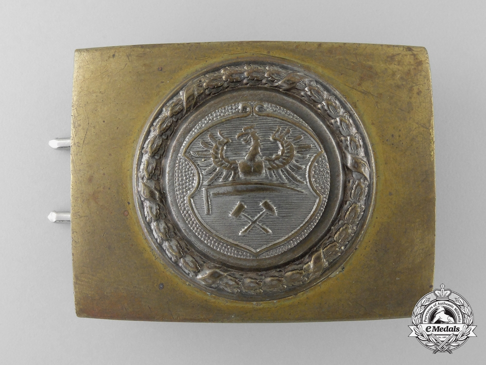 eMedals-An Upper Silesia (Ober-Schlesien) Fire Defence Service Enlisted Man's Belt Buckle