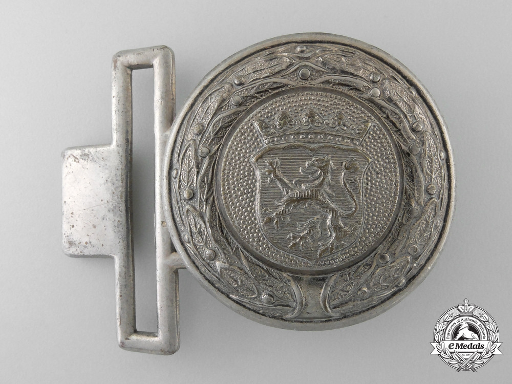 eMedals-A Free State of Hesse (Freistaat Hessen) Fire Defence Service Officer's Belt Buckle; Published Example