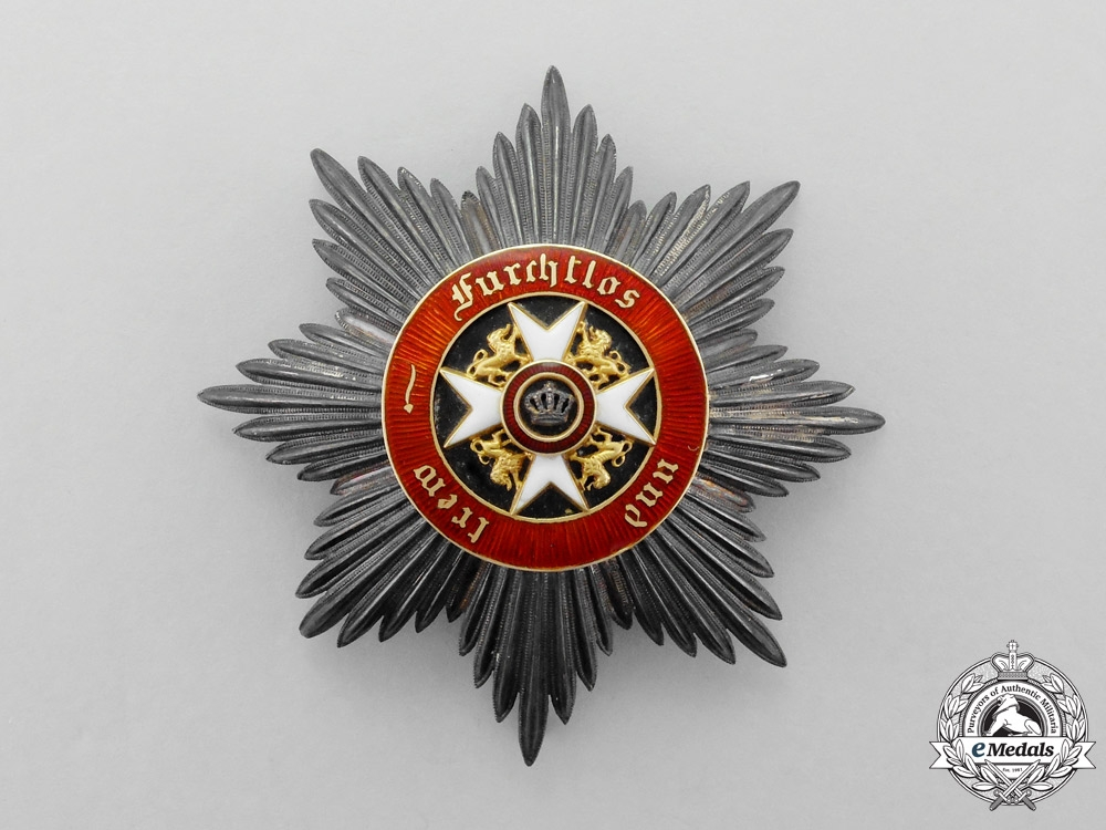 eMedals-Wurttemberg. A Wurttemberg Order of the Crown Grand Cross Breast Star