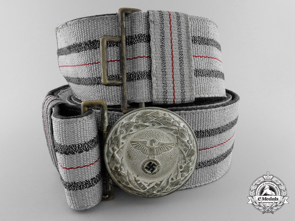 eMedals-A Rare Initial Pattern RLB Leader's Brocade Dress Belt; Published Example
