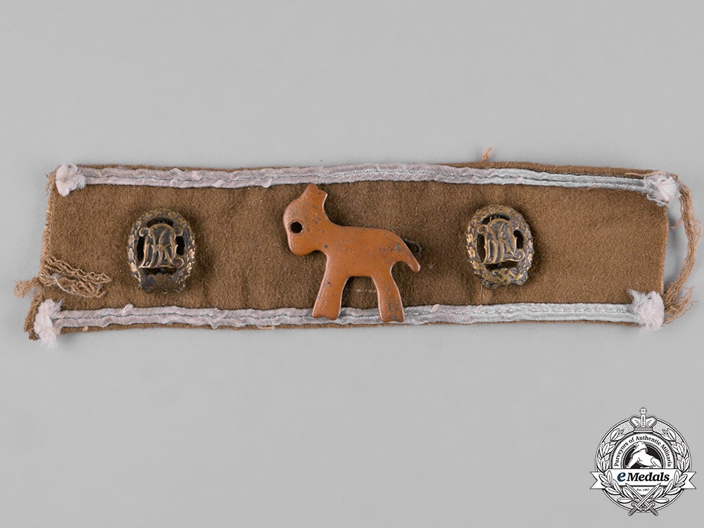 eMedals-Germany, Third Reich. An Afrika Cuff Title Section with Possible Unit Badge & DRL Sports Badges