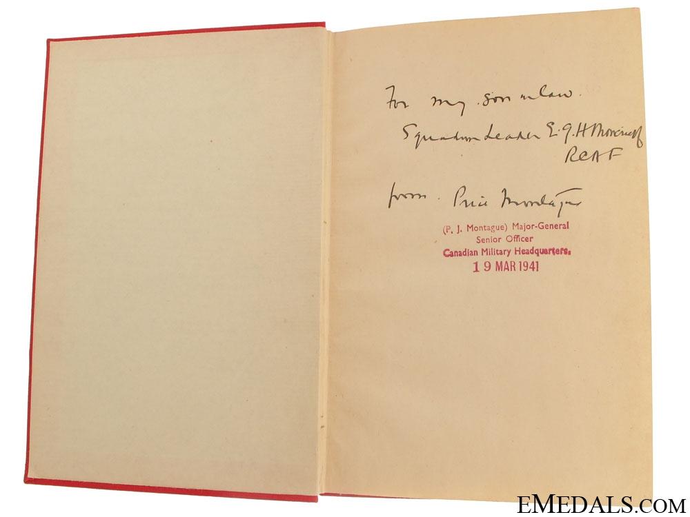 eMedals-Major-General Price J. Montague Signed Book
