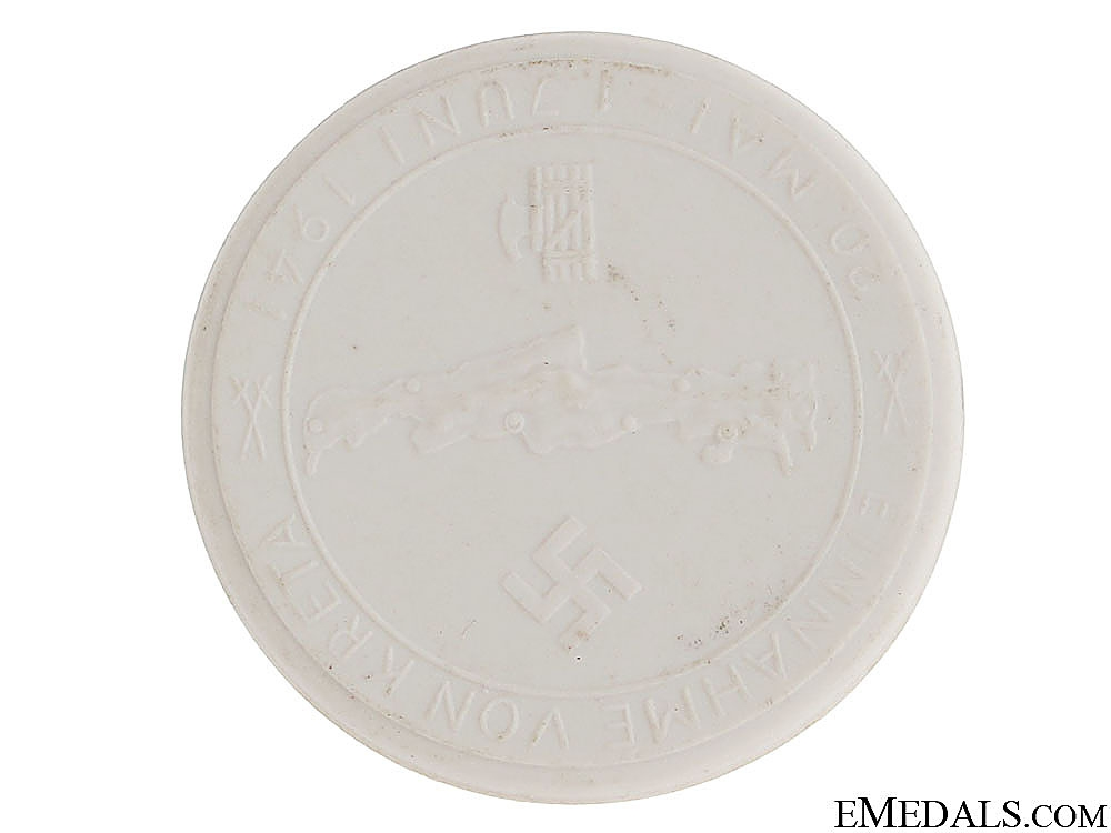 eMedals-Meissen Porcelain Table Medal - Kreta